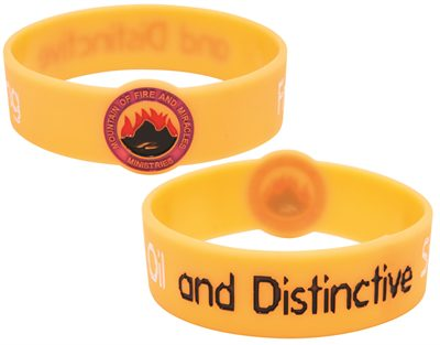 Debossed Round Front Wristband